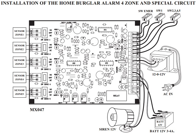 home security system  5 zone