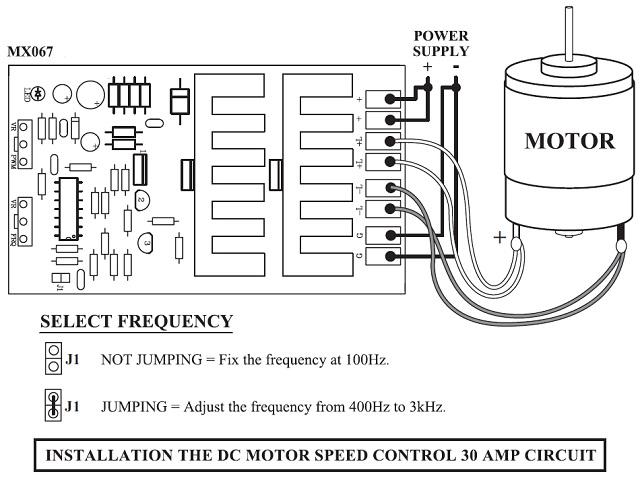 30 aamp adjustable pulse width modulator speed control