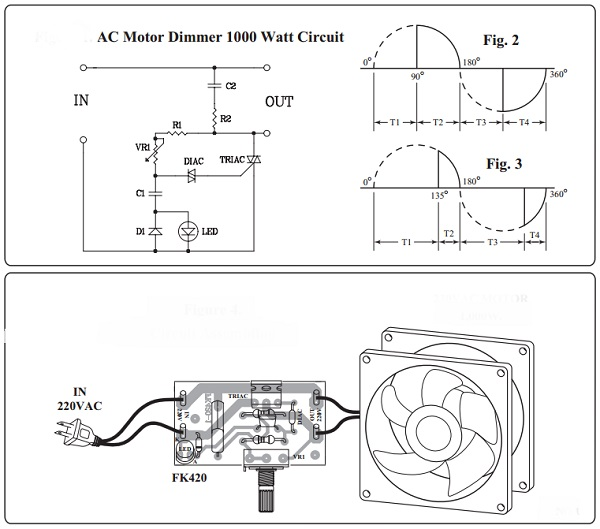 a c motor dimmer kit fk420 qkits electronics store