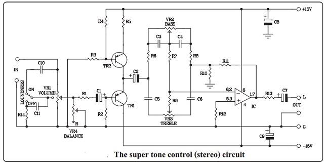 Stereo Tone Control Circuit Diagram | Super Stereo Tone Control Kit Qkits Electronics Store Kingston