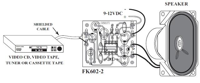 fk674 2 watt mono power amplifier kit with speaker qkits electronics store kingston ontario canada