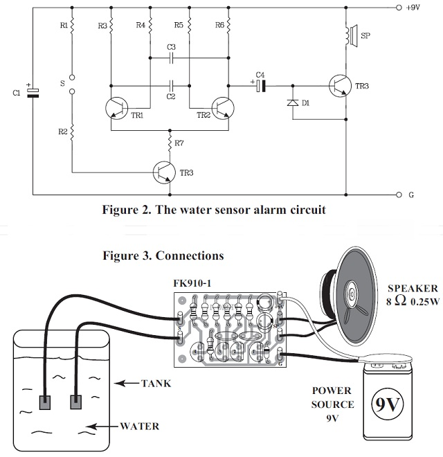 Water Sensor Alarm Kit For 12vdc Qkits Electronics Store Kingston