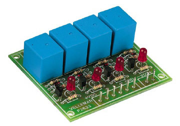 Four Channel Relay Kit Velleman Kit K2633