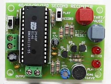 40 second message recorder kit with looping option K146
