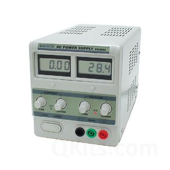 Lab Power Supply 0-30V / 0-3A Dual LCD Display image