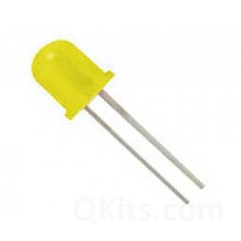 10mm Yellow Diffused LED image