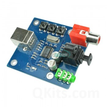 PCM2704 USB to S/PDIF Converter DAC side view