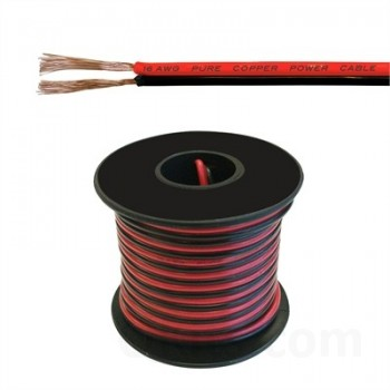 Low Voltage DC Power Cable, 16AWG, 25ft
