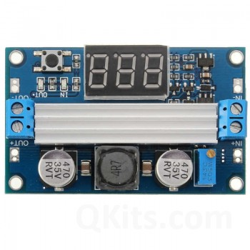 Step up power supply DC-DC converter with meter 100W