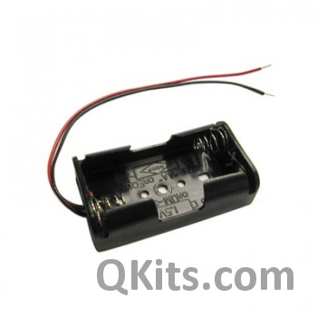 AA Battery Holder - 2 Cells, Wire Leads