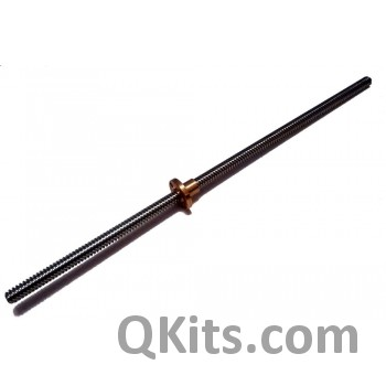 picture of ACME lead screw with t nut, QKits