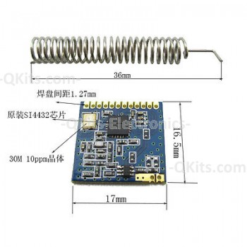 SI4432 long-range wireless transceiver image