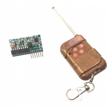 4 button RF remote control module and receiver