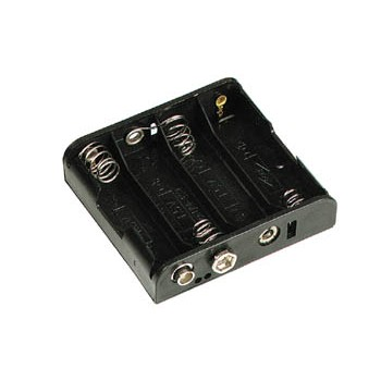 4 AA Side by Side Battery Holder image