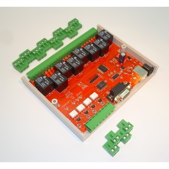 VA108 8 channel relay card, shown without case.