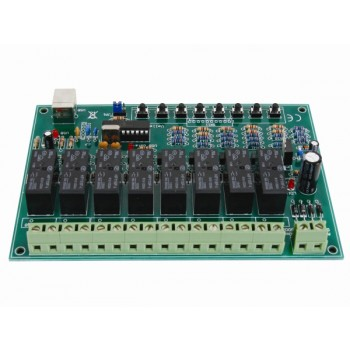 velleman K8090 8 Channel USB Relay Card image back view