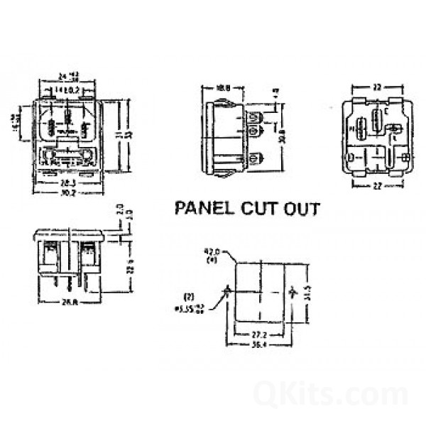 male power socket  chassis type  fuse holder qkits