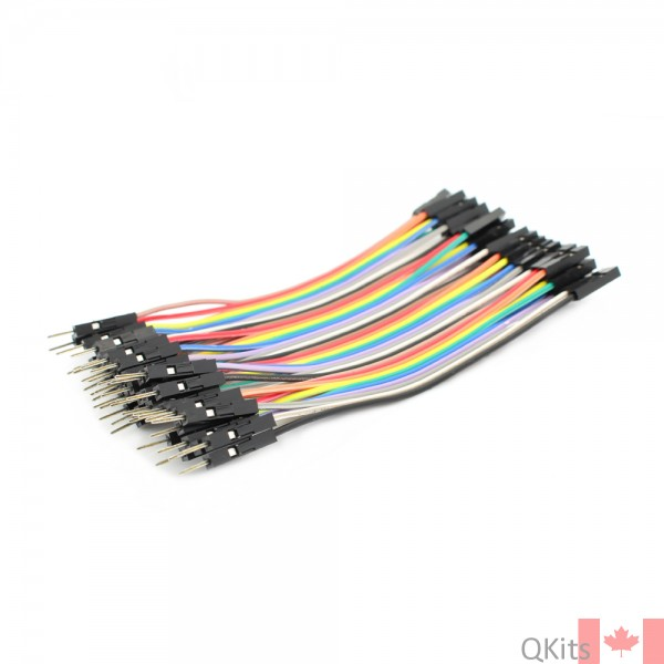 Electronic Jumper Cables : Pin male to female jumper cable cm qkits electronics
