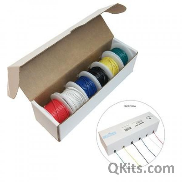 Hookup Wire Kit, 6 Colours, 22AWG, Solid Core - Prototyping supplies ...