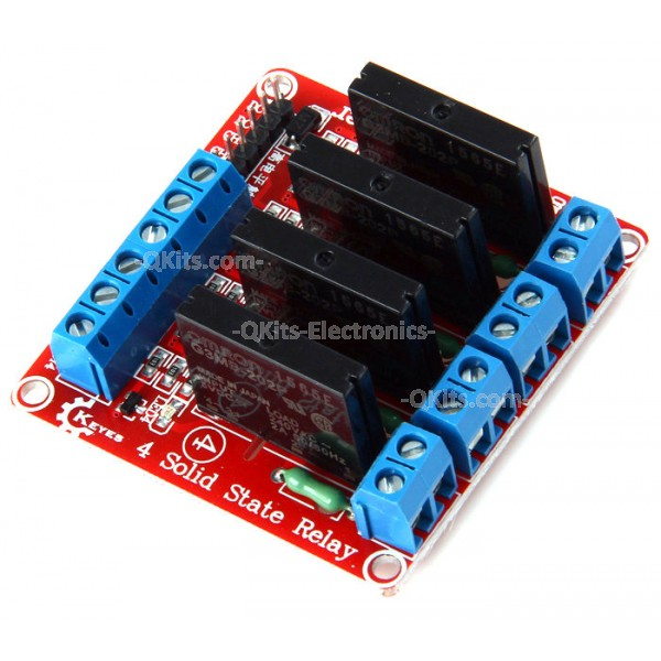 Four Channel Solid State Relay 5 Volt Trigger 0 240 Vac