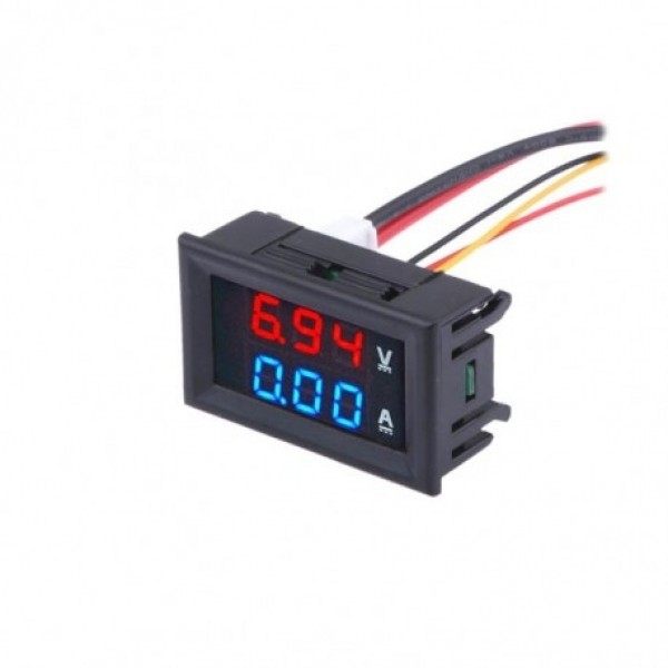 Led Volt And Amp Meter With Internal Shunt 10 Amps Qkits