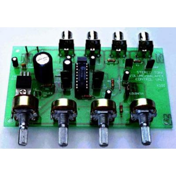 Stereo Pre-amplifier & tone control kit QKits Electronics Store
