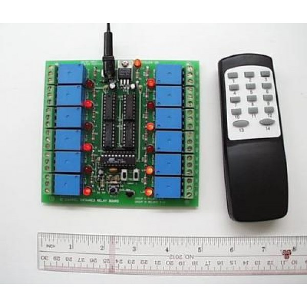 12 Channel IR Relay Kit with Remote Control Remote control