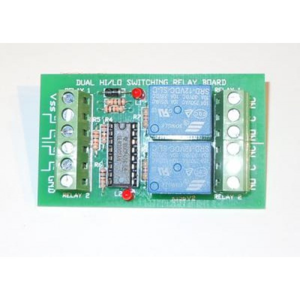 Dual HILO Switched Relay Kit Relay cards Electronic Kits QKits