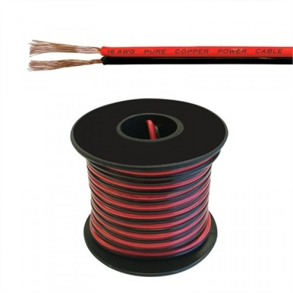 16 2 Low Voltage Cable : Low voltage dc power cable awg ft qkits electronics