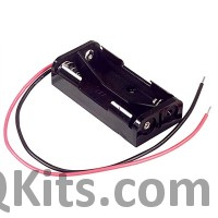 AAA Battery Holder - 2 Cells, Wire Leads