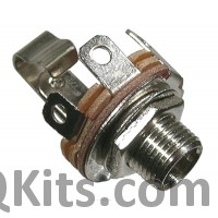 1/4 inch CHASSIS JACK Mono chassis jack. 9mm mounting hole