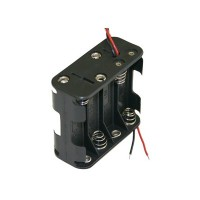 AA Battery Holder - 8 Cells, Wire Leads