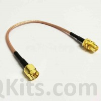 10cm SMA Male to Female Pigtail WLAN RF antenna RG316 COAX