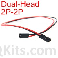 2 wire cable with female Dupont headers.