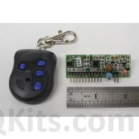 4 button keychain transmitter and receiver image