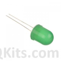 10mm Green Diffused LEDs image