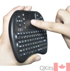 mini wireless keyboard with touch pad mouse for raspberry pi relative size