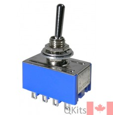 4PDT 6 amp miniature toggle switch