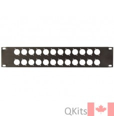 19 inch Panel Rack, 24 holes for XLR Connectors image