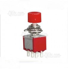 6 Pin Push Button Switch Daier DS-622 ON (ON) Momentary 6mm 6pins solder