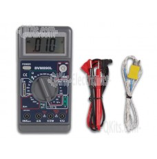 31/2 Digit Multi Meter with Temperature Capacitance