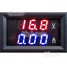 WR 005 LED volt meter and amp meter front view