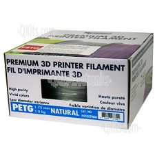 1.75mm PETG Natural 3D Printer Filament MG Chemicals