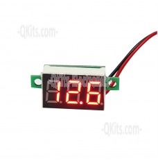 2.5 - 30V Mini RED LED Digital Voltmeter