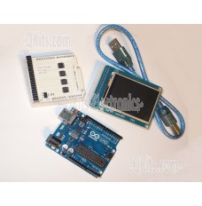 Arduino UNO Compatible Resistive Touch Screen Kit with USB Cable