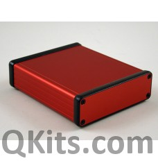 Extruded Aluminum w/ Metal End Panels RED