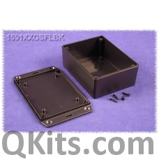 Multipurpose Black Plastic ABS Enclosure Hammond Flanges