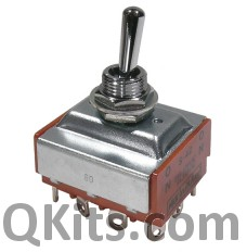 4PDT 25 amp toggle switch