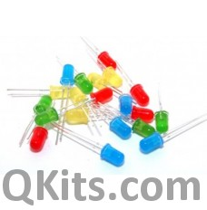 :LED Assortment 80 pieces 5mm, 3mm Red, Blue, Yellow, Orange, Green