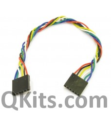 6 pin female to female dupont cable 20cm